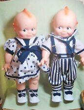 """1967 Collectible Cameo 16"""" Boy & Girl Kewpie Dolls"""
