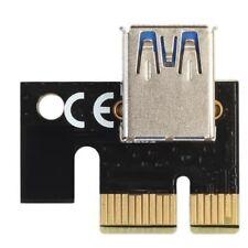 PCIe PCI Express 1x Extender Riser Karte Adapter USB 3.0 Port für Mining Schwarz