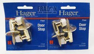 Hager CD209-US4 Floor Door Stop Brass Finish Height 4 Pack