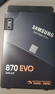 """NEW SAMSUNG 870 EVO Series 2.5"""" 2TB Internal Solid State Drive SSD MZ-77E2T0B/AM"""