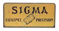 ORIGINAL SIGMA UHREN AUFSTELLER / SIGN ON DISPLAY  40/50ER JAHRE  AUS METALL