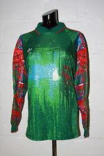 VTG Adidas Trefoil Green Blue Red Padded Goal Keeper Goalie Soccer Jersey Sz S
