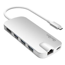 USB type C Hub Multi-Port Adapter w/ 4K HDMI,GigabitEthernet,3 USB 3.0,CardReade