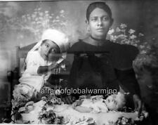 Photo 1909 Colombia.  Postmortem - Spanish Mother and Dead Child