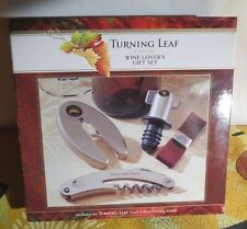 """New listing Wine Lovers 4/Piece Gift Set - Turning Leaf """"California"""""""
