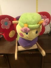 Kids Plush Rocker Baby Play Rocking Butterfly Ride On w/ Sound