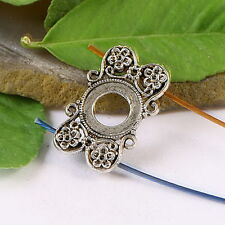 10pcs Tibetan silver FLOWER cover design findings h1119