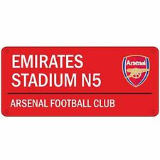 ARSENAL EMIRATES STREET SIGN RED KIDS BEDROOM WALL DECOR OFFICIAL NEW