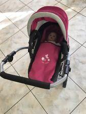 Puppenwagen kinderwagen set mit Baby Born Puppe und Maxi Cose und Strampelanzug