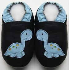soft sole leather baby shoes Dino navy sky 4-5 y Toddler minishoezoo slippers