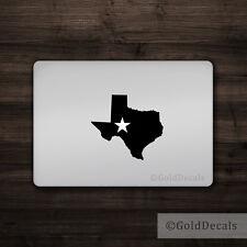 Texas Star - Mac Apple Logo Laptop Vinyl Decal Sticker Macbook Cowboy Dallas TX