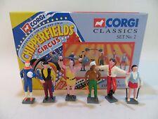 Corgi Chipperfield's SIX/6 cirque figurines-set 2 1:50. SUPERBE. Coffret. CLASSICS.