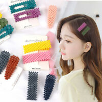 Women Handmade Bead Hair Clip Hairband Comb Bobby Pin Barrette Hairpins Headwear