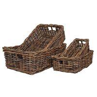 Rattan Shelf Storage, Wicker Drawer Basket, Home Storage, Rustic Brown