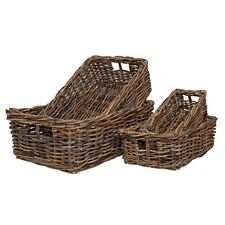 Wicker Storage Basket Shelf Drawer Gift Hamper Rustic Brown Strong Rattan