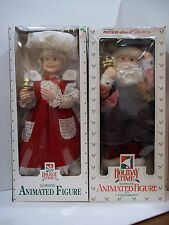 animated  motionette light up mrs santa claus pair moving christmas decor