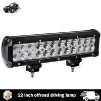 "12"" INCH LED WORK LIGHT BAR OFFROAD Driving Lamps ATV Car FOG TRUCK 4WD 12V 72W"