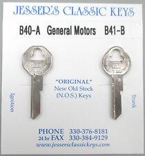 Original 1967 Chevrolet GM Keys B40-A B41-B NOS Key Set '67 Chevy