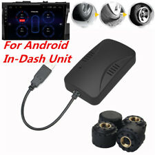 TPMS USB Car Tire Pressure Alarm Monitoring Wheel Sensor For Android DVD Player