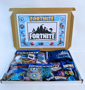 FORTNITE THEMED LETTERBOX GIFT HAMPER BOX PERSONALISED PARTY BIRTHDAY EASTER