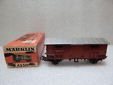 1 4550 VAGONE MERCI F.S.MARKLIN H0 misura:11 cm.CON SCATOLA USATO COME da FOTO