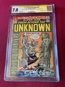 DC COMICS  FROM BEYOND THE UNKNOWN #8 CGC 7.0 SIGNED BY ADAMS O,NEIL & MILLER🔥