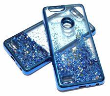 For ZTE SEQUOIA / BLADE Z MAX Z982 BLUE Trim Glitter Star Liquid Water Skin Case