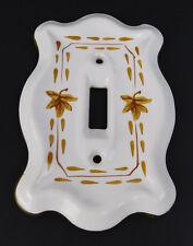 Vintage Ceramic Leaf Nature Theme Switch Plate Toggle light Plate