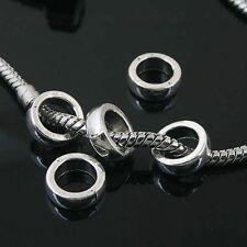10pcs Tibetan Silver circle spacer Beads Fit European charm Bracelet  L0041