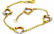 Gold Bracelet 18KT Pattern IN Yellow And White Girl Women's