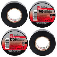 4 Rolls 3m Temflex 1700 Vinyl Black Electrical Tape 34 X 60 Ft 4 Pack