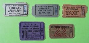 Auto Racing Ticket Stubs