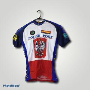 World Jerseys Polish Post Jersey Mens Size Large Short Sleeve Cycling Jersey