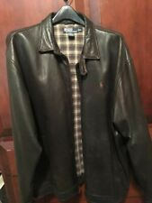 Men's Ralph Lauren Polo Brown 100% Genuine Soft Leather Jacket Size XL