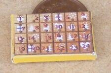 1:12 Scale Empty Christmas Advent Calendar Dolls House Xmas Display Accessory H