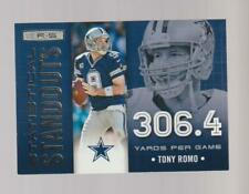 2013 Panini R&S Statistical Standouts #3 Tony Romo card, Dallas Cowboys
