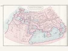 MAP ORBIS PTOLEMAEI VINTAGE LARGE WALL ART PRINT POSTER PICTURE LF2012