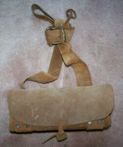 REVOLUTIONARY WAR AMMO POUCH, LEATHER, U.S. ISSUE *COPY*