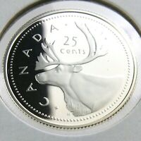 2002 Proof Canada 25 Cents Quarter Uncirculated Canadian Caribou Coin N692