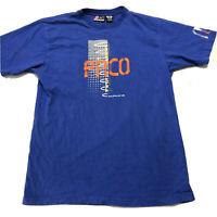 vintage paco sport t shirt blue mens medium tee 80s 90s unique design 1989