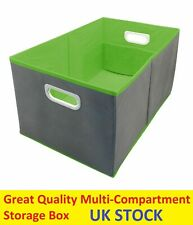 Multiple Compartment Storage Box Home Office Car Container With Handles 51cm UK
