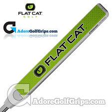 GATTO PIATTO Golf Standard 12 Pollice medie Putter Grip-BIANCO/VERDE/NERO + NASTRO