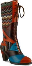 L'Artiste by Spring Step Women's Malag Boot Orange Multi Size 5.5-6 NEW IN BOX