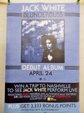 Jack White - Rare Blunderbuss Debut Album Large Double Sided HMV Promo Poster