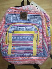NEW✿ ROXY BACKPACK BOOK SCHOOL STUDENT Laptop Tablet Pouch Pink Yellow Blue