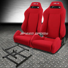 NRG TYPE-R RED RECLINABLE RACING SEAT+LOW-MOUNT BRACKET FOR AP1 HONDA S2000 S2K