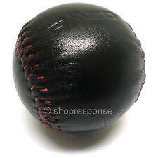 RAZO RA114 Shift Knob Red Stitched Black Leather Round/Ball 240g Weighted JDM