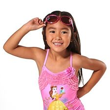 Girls DISNEY PRINCESS UV SUNGLASSES Child Aurora Tiana Rapunzel Jasmine Decals