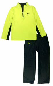 Under Armour Boys 1/4 Zip Pull-Over 2pc Track Pant Set Size 5