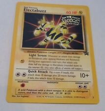 Pokemon ELECTABUZZ Black Star Promo Card #2 WB Gold Stamp